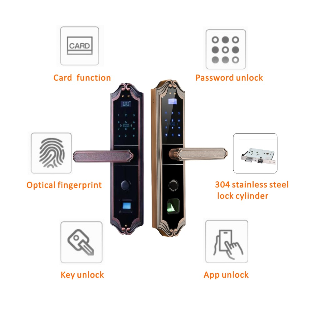 reliable fingerprint door lock price for cottage-1