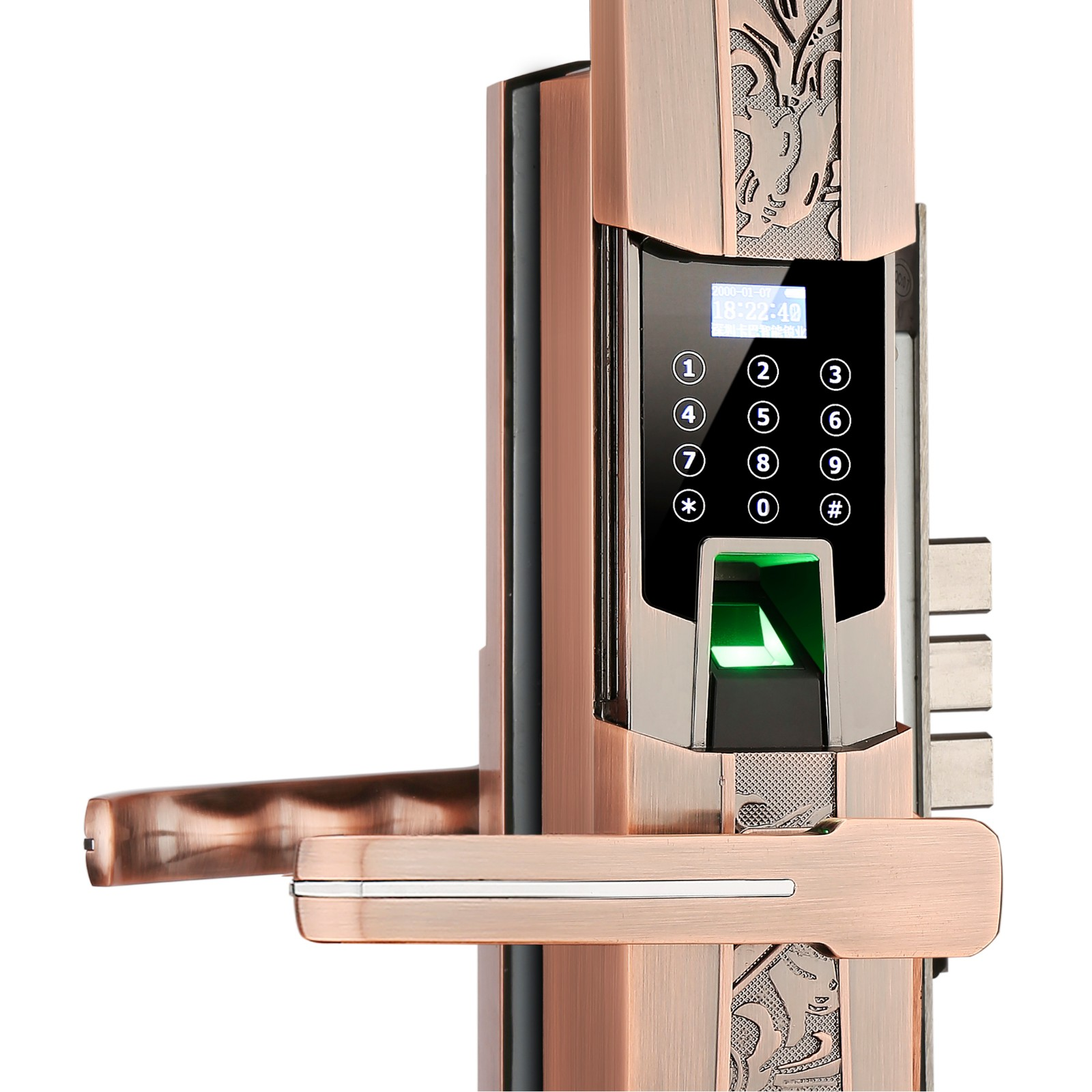 intelligent keyless deadbolt front door for apartment-5