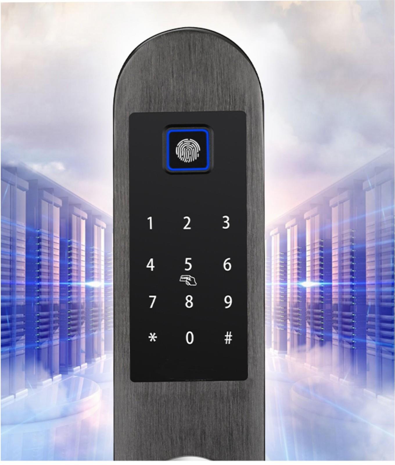 keyless entry locks scan for office Eversunny