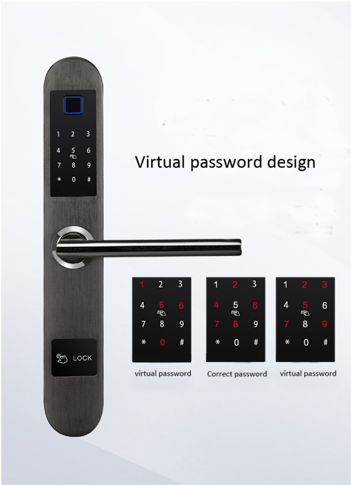 reliable keyless lock good quality for apartment-8