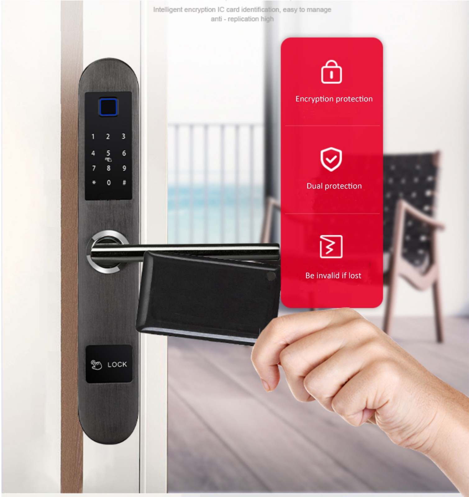 reliable keyless lock good quality for apartment-9