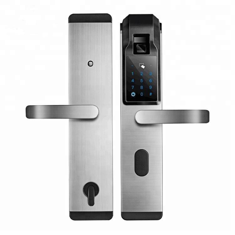 Electronic security door lock biometric card password fingerprint