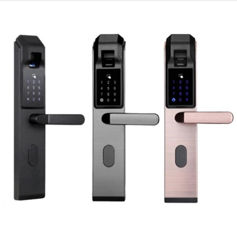 thumb lock door handle security for office Eversunny
