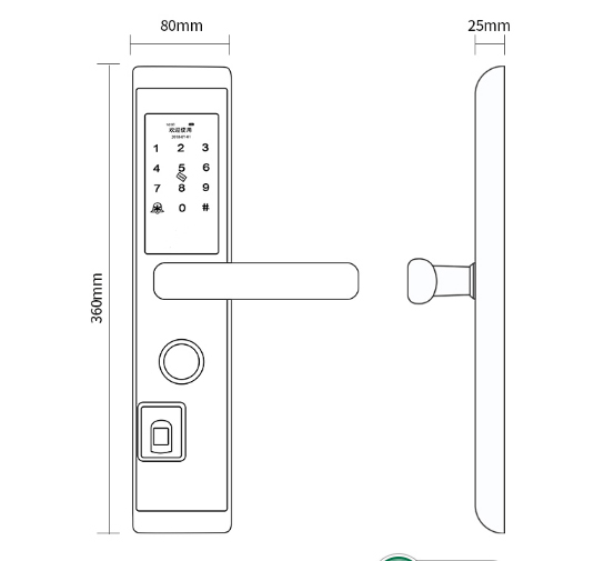 Eversunny digital lock front door for residence-1