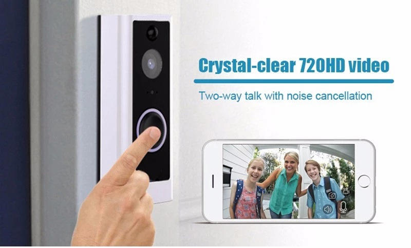 Eversunny wi fi enabled video doorbell with central management control system for apartment