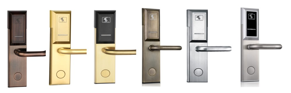 fast key card door lock system stainless steel for hotel-1