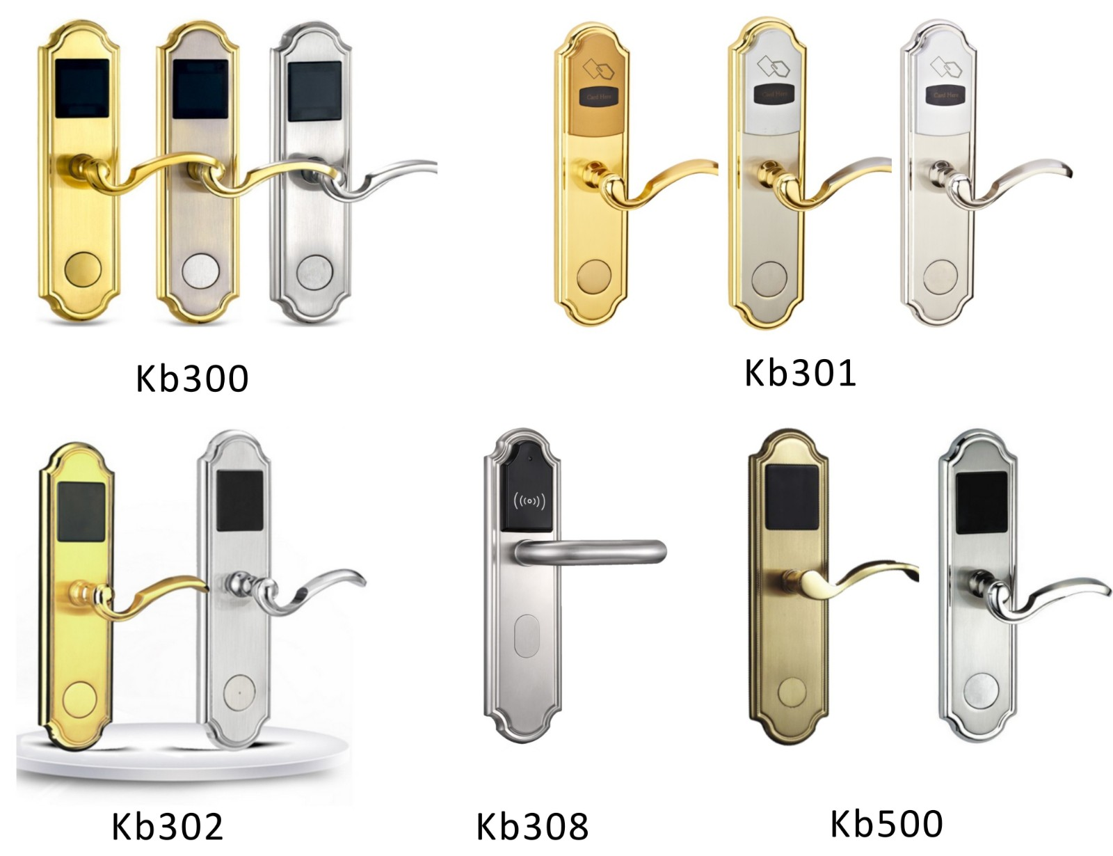 Eversunny key card door lock price stainless steel for home-1