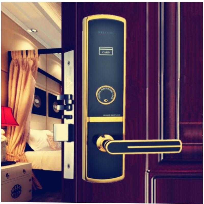 convenient rfid card door lock with central management control system for apartment