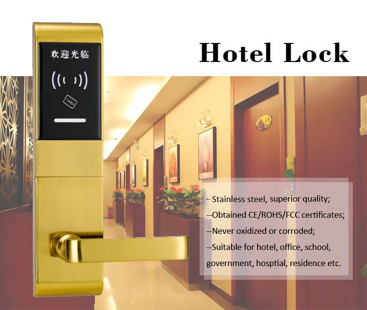 Eversunny smart card access door lock system hotel smart locks for hotel-1