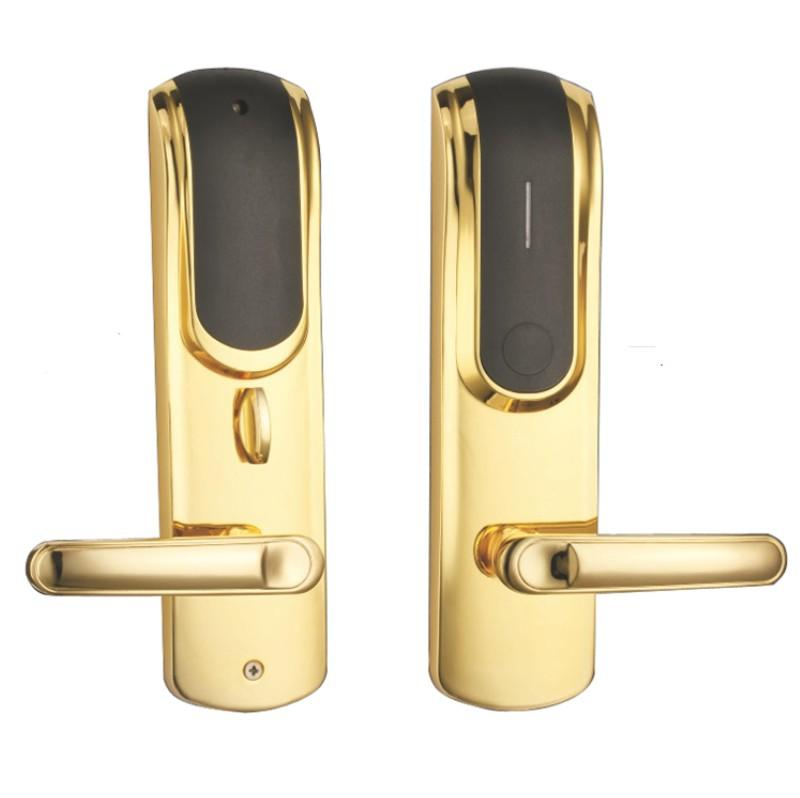 Electronic smart low loss card door lock with free style handle KB712