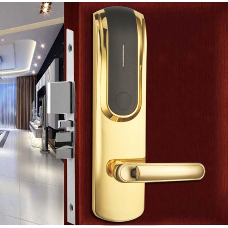 convenient electronic card lock system stainless steel for hotel-1