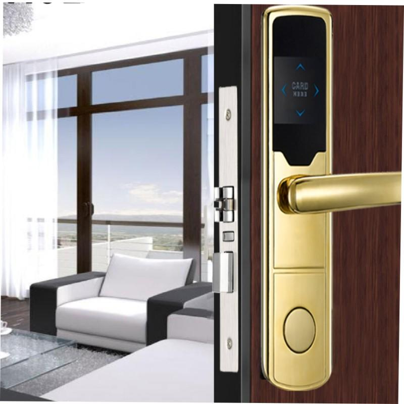 Smart key card door lock with mortise for Metal and wooden door KB701