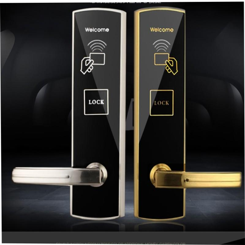 Smart self-locking cylinder  door lock hotel security  KB718