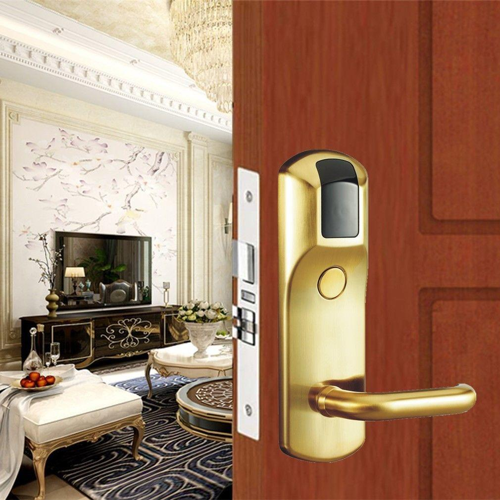 Eversunny safe key card door lock price with central management control system for apartment