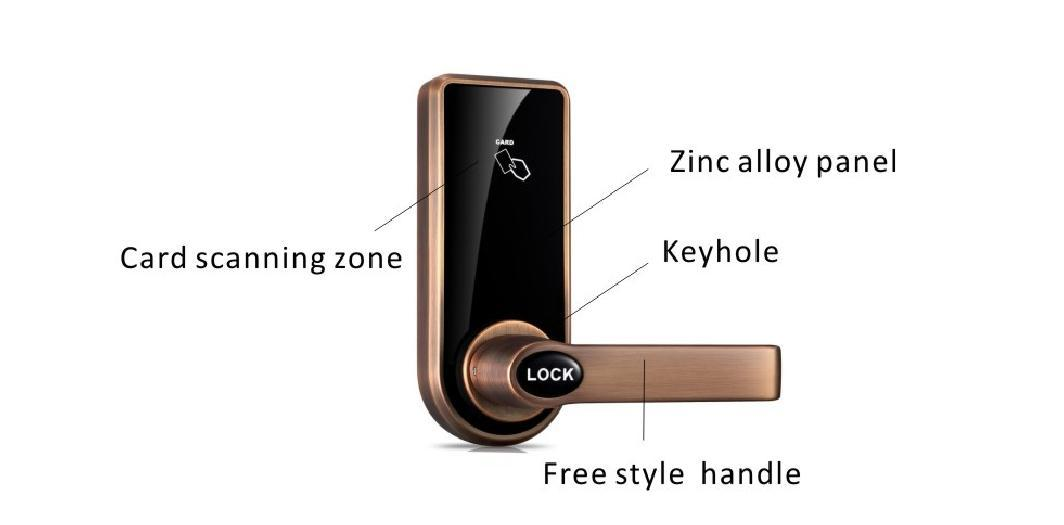 Eversunny reliable key card lock system hotel smart locks for hotel
