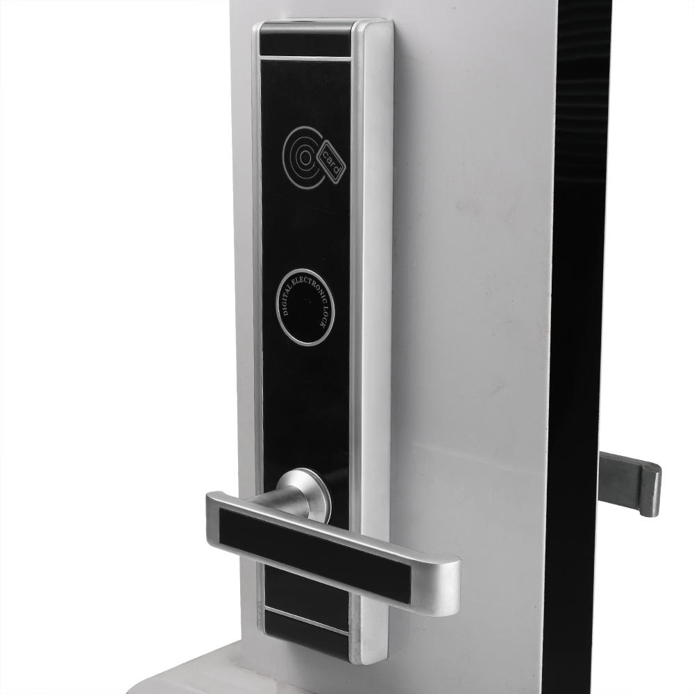 Intelligent Hotel door Lock low consuming Battery Keyless Card Digital KB826