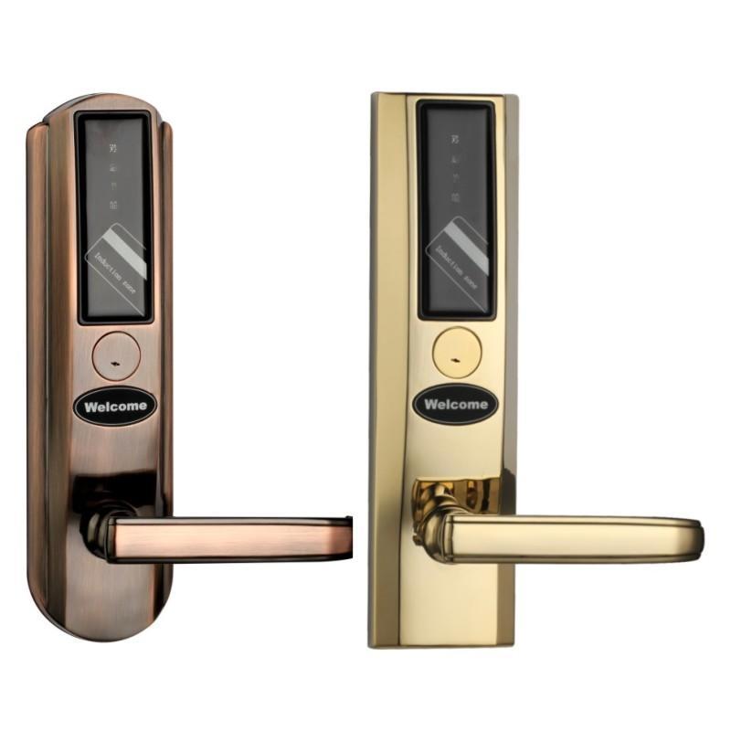 Security door lock smart key card unlock multiple language KB860