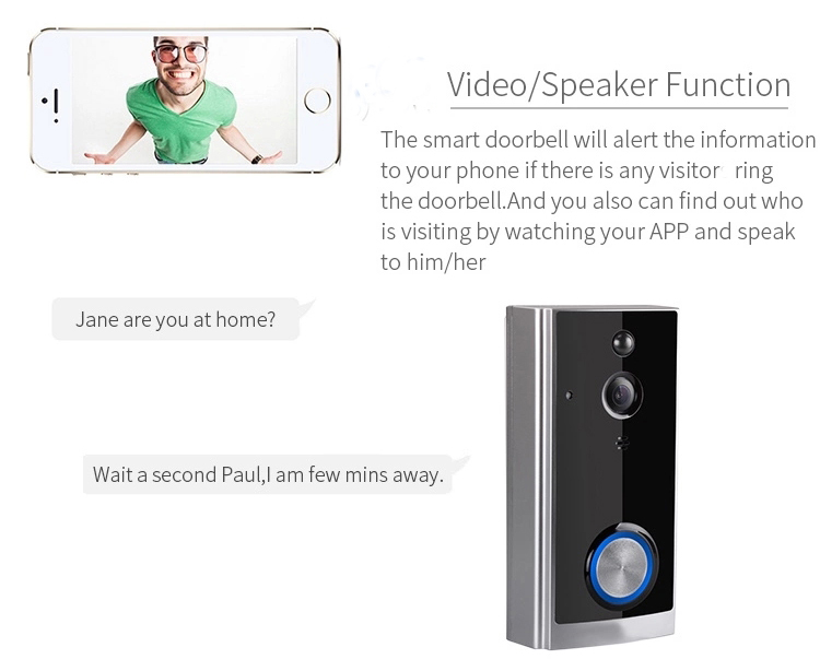 Eversunny smart wireless security doorbell with central management control system for hotel-4