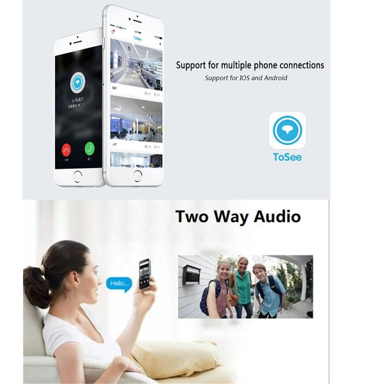 safe wireless video doorbell bell with central management control system for apartment