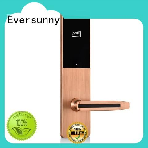 Eversunny convenient rfid card door lock stainless steel for hotel