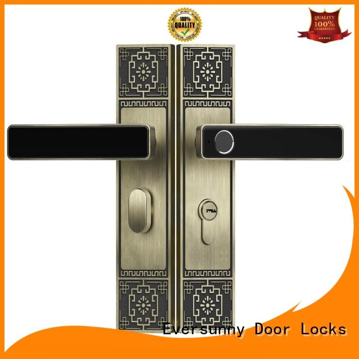 Eversunny locks fingerprint door lock price good quality for cottage