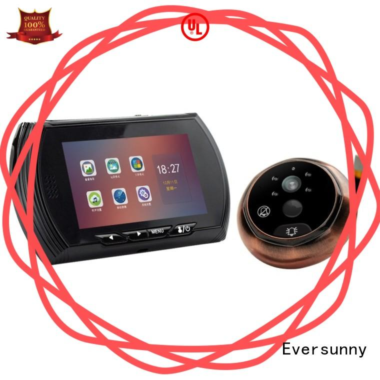 visual front door motion sensor camera LCD for home Eversunny