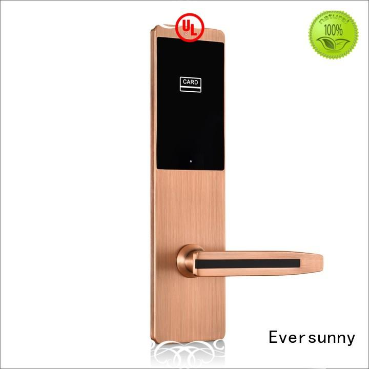 Eversunny hotel key card lock with central management control system for apartment