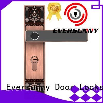 Eversunny fingerprint front door lock handle for home