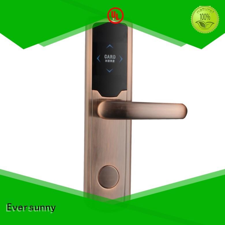 Eversunny convenient card reader door lock hotel smart locks for apartment