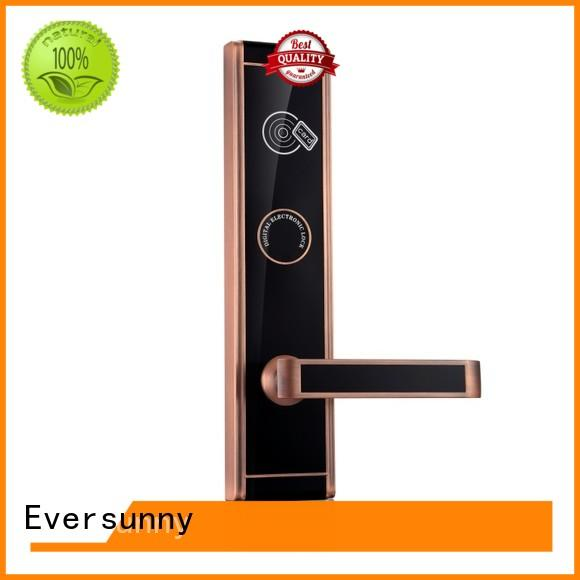 Eversunny Electronic key card door lock system with central management control system for home
