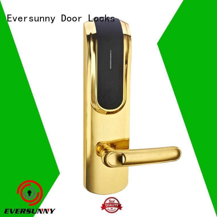 Eversunny smart hotel key card lock international standard for door