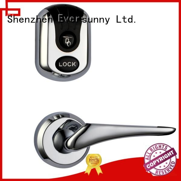 digital card access door lock stainless steel for home Eversunny