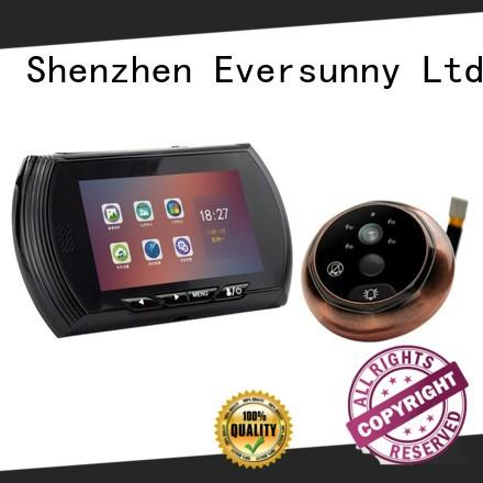 Eversunny monitor video peephole lens for front door