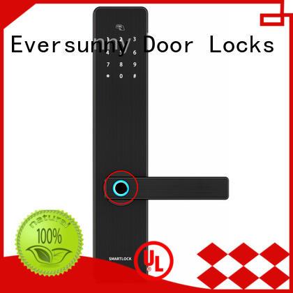 intelligent thumb scanner lock front door house
