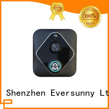 Eversunny 720p wi fi enabled video doorbell with central management control system for hotel