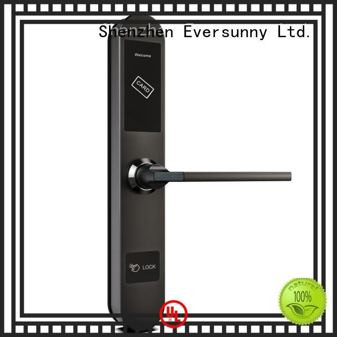 Eversunny card key card door lock with central management control system for hotel