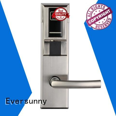 Eversunny convenient swipe card door lock stainless steel for home