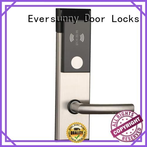 practical card access door lock with central management control system for apartment