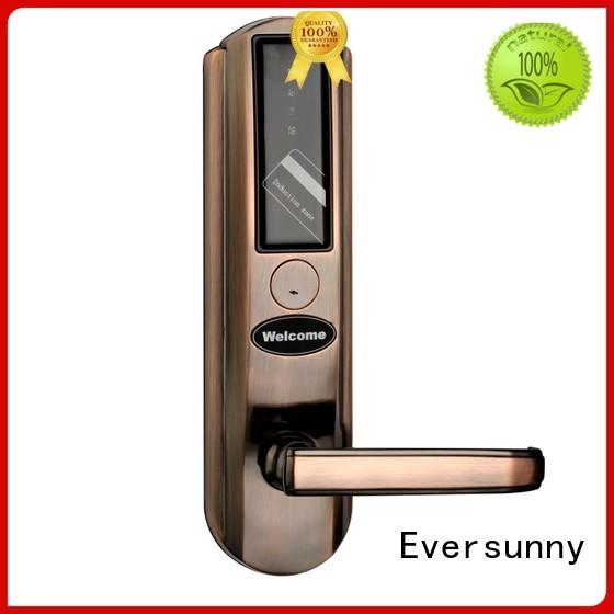 Eversunny fast rfid card door lock system stainless steel for door
