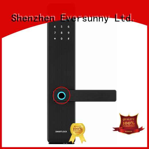 Eversunny keyless thumbprint lock entry system for home
