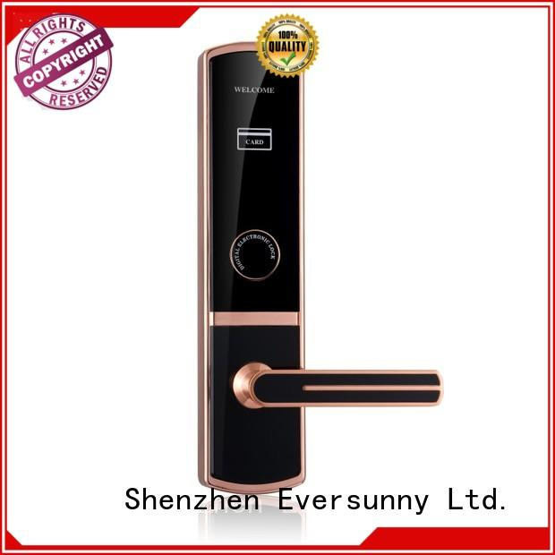 Eversunny practical smart card door lock international standard for apartment