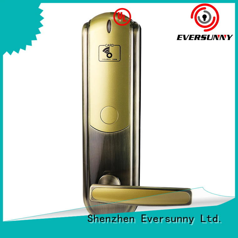 Eversunny electronic door locks with card reader international standard for apartment