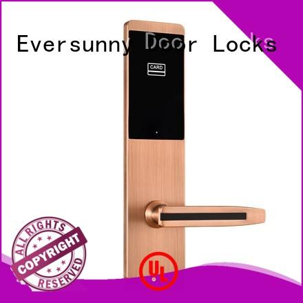 Eversunny Electronic unlock door with card stainless for apartment