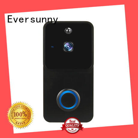 Eversunny practical wireless video doorbell stainless steel for apartment