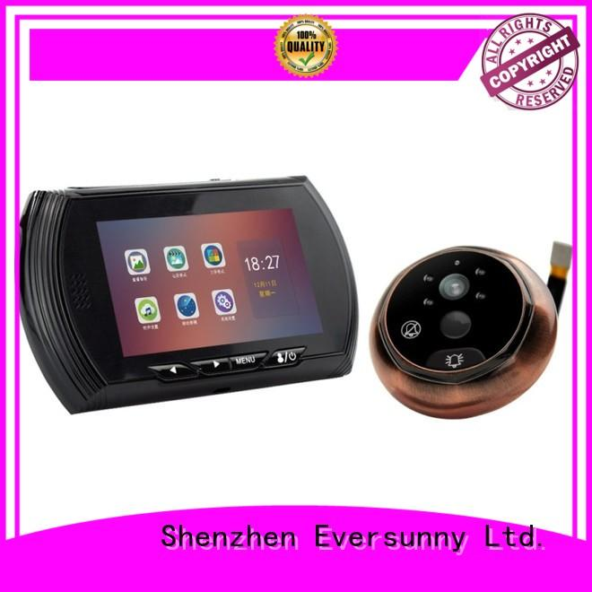 Eversunny 45ch video peephole lens for office