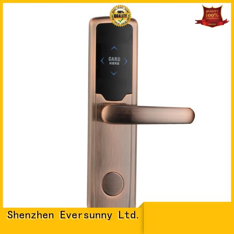 fast key card door lock price with central management control system for apartment