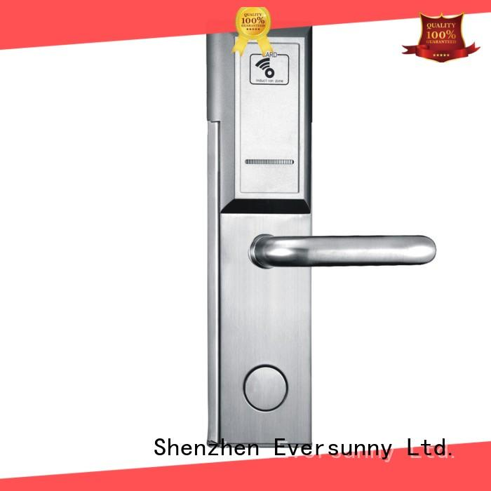 Eversunny digital rfid card lock with central management control system for hotel