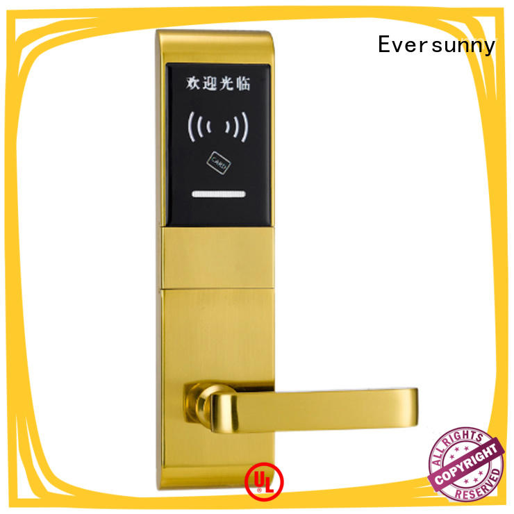 Eversunny smart electronic door locks with card reader energy-saving for hotel