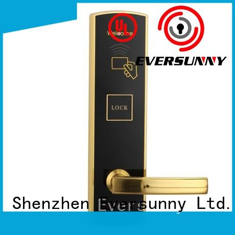 Eversunny electronic swipe card door lock stainless steel for hotel