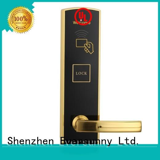 Eversunny key key card lock system with central management control system for door